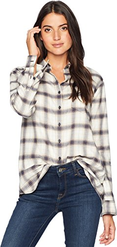 Pendleton Women's Primary Flannel Shirt, Antique/White Plaid