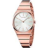 Calvin Klein Supreme Silver Dial Rose Gold PVD Women's Watch