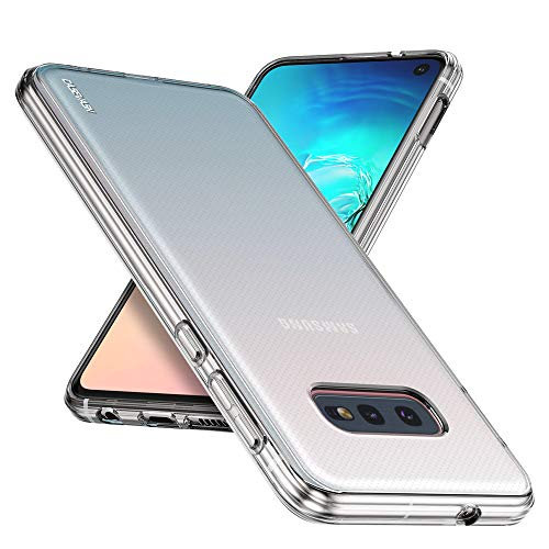 Galaxy S10E Case, CASEVASN [Slim Thin] Anti-Scratches Flexible TPU Gel Rubber Soft Skin Silicone Protective Case Cover Compatible for Samsung Galaxy S10E (Clear)