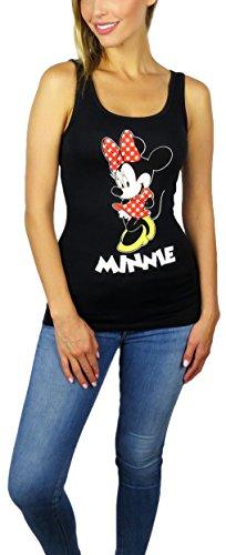 Price comparison product image Disney Womens Minnie Mouse Classic Minnie Tank Top (Black,  Medium)