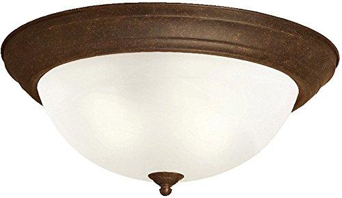 Kichler 8110TZ Flush Mount 3-Light, Tannery Bronze