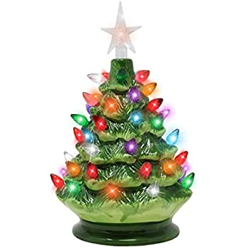 "Amazon.com: 15"" Tabletop Prelit Ceramic Christmas Tree"