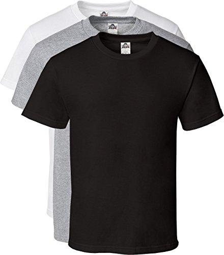Alstyle Mens Cotton Crew Neck Short Sleeve T-Shirt 3-Pack