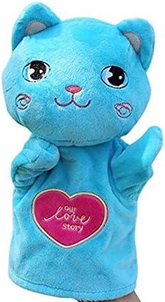 HuaQingPiJu-JP かわいい子供手袋人形ソフトぬいぐるみのおもちゃ漫画動物人形のおもちゃ(猫)
