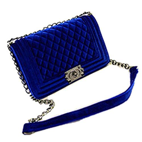 Eysee - Cartera de mano para mujer Rojo azul zafiro 20cm*16cm*6cm azul zafiro