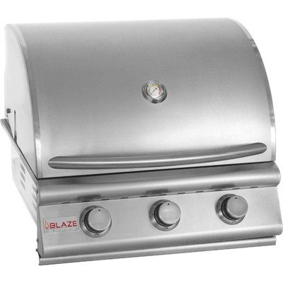 25″ 3-Burner Built-In Gas Grill Gas Type: Natural