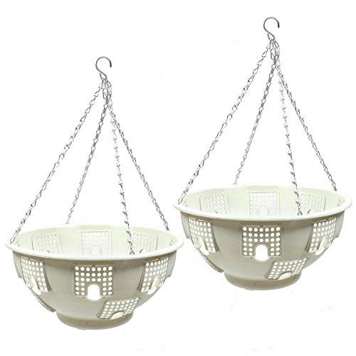 Betta Basket 2 Piece Hanging Planter, White