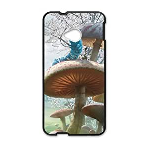 HTC One M7 Cell Phone Case Black Alice in Wonderland Character Alice Phone Case Plastic Custom AFH