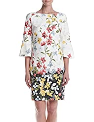 Jessica Howard Womens Floral Bell Sleeve Shift Dress