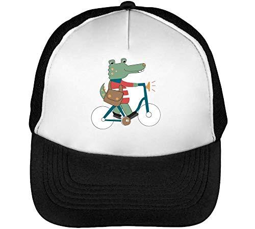 Aligator Cycling Gorras Hombre Snapback Beisbol Negro Blanco