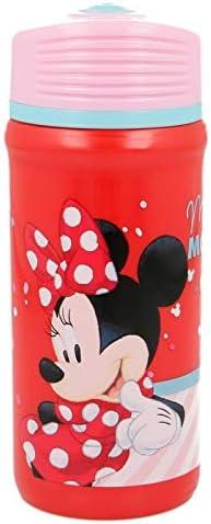 ALMACENESADAN 2082, Botella Sport Twister Disney Minnie Mouse Electric Doll; Capacidad 390 ml; Producto de plástico; No BPA.