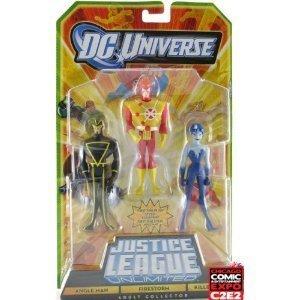 (DC Universe Justice League Unlimited Action Figure 3Pack Angle Man, Firestorm Killer Frost)
