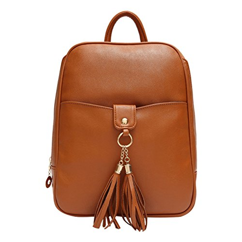 Vault Yiji Decorative Tassel Foldable Outdoor Backpack Brown Women's fwXfq4