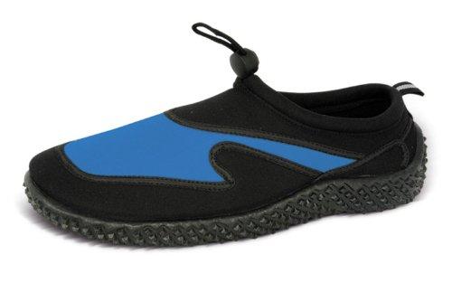Azul Rush Mens playa neopreno zapatos de Aqua negro y gris oscuro