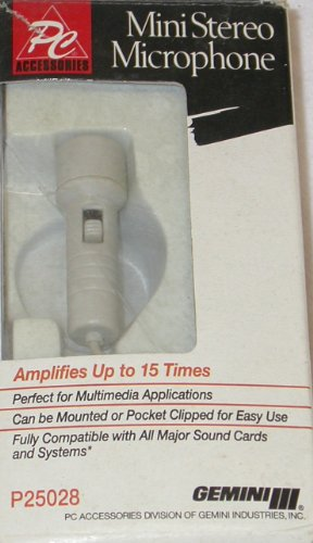 Gemini P25028 Mini Stereo Microphone by PC Accessories