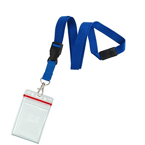 (5 Pack - Premium Quick Release Lanyards with Detachable Buckle & Heavy Duty Waterproof Badge Holders by Specialist ID)
