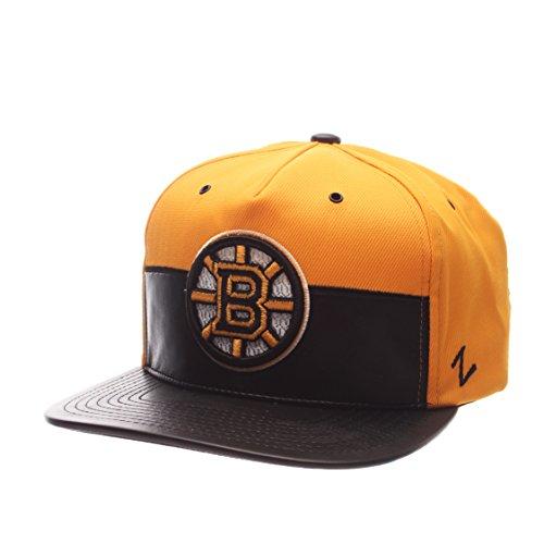 Zephyr NHL Boston Bruins Men's Anarchy Snapback Hat, Adjustable, Gray/Black
