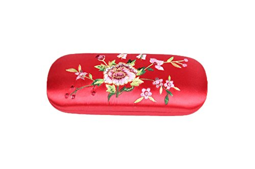 Embroidery Case Embroidery Storage Box with Embroidered Flower Pattern Reading Eyeglasses silk spectacle case Eyeglasses Container for children men women by A-Grace - Choose Spectacle Frame