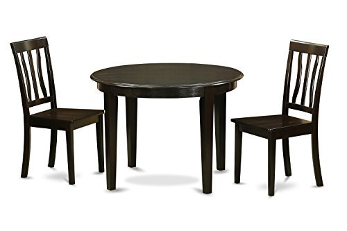 Cheap East West Furniture BOAN3-CAP-W 3-Piece Kitchen Nook Dining Table Set, Cappuccino Finish