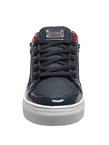 OZONEE Herren Sneakers Sportschuhe Laufschuhe Turnschuhe Low Top Geschnürt CONER B3026 Dunkelblau