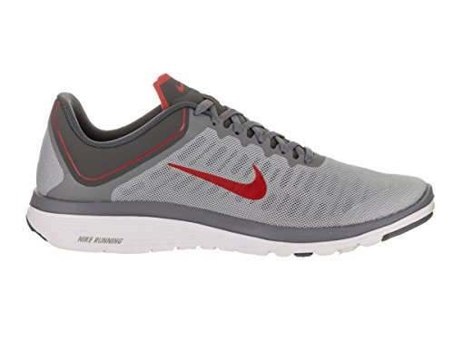 NIKE Herren FS Lite Run 4 Laufschuh Wolf Rot / Universität Rot / Cool Grey