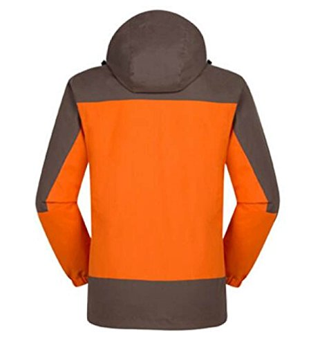 Pioggia 1 In Con Cappuccio Protezione Orange Resistente Da Vento Polsini Orlo Cerniera Tasche Richiudibile E All'acqua Regolabile Quattro Per Giacca 3 Uomo IFqRCnwqxt