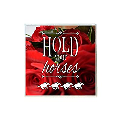 Hold Your Horses Derby with Roses Ceramic Coaster