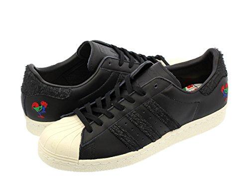 adidas Men's Originals Superstar 80s CNY Shoes #BA7778 (11.5) Core Black / Black / ()