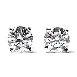 IGI Certified 1/3 cttw Round Cut 14K White Gold Diamond Stud Earrings