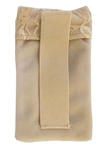 Braza Secret Stash Lace Bra Travel Pocket Pouch,Beige,one size