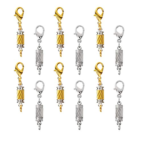LIOOBO 20pcs Jewelry Clasps 5mm Stainless Steel Bracelet Necklace Lobster Clasps for Jewelry Making DIY (Golden and Silver)