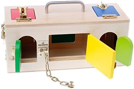 Lamdoo Montessori - Caja de cerradura de colores educativa ...