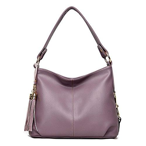 Purple Leather Handbag - 9