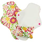 Pink Daisy Stay Dry Feminine Pads - 3 PACK (Butterflies, Small)