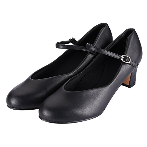 Character Shoe Women's, 2 Inch Heel, Flamenco Shoes,Folklorico Shoe,Ballroom Dance Shoes for Girls (Black, 8M)