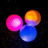 THIODOON Glow in The Dark Golf Balls Light up Led Golf Balls Night Golf Gifts for Men Kids Women