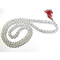 JEWEL BEADS Beautiful jewelry AAA++ Quality 109 bead Natural Crystal Quartz Stone Jaap mala japa jap Necklace 9mm Gemstone clear Rock semi precious Loose stone Healing Jewelry Supplies Code- UKA-10255