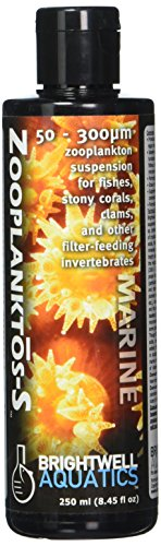 Brightwell Aquatics 50-300 Micron Zooplanktos-S Zooplankton Aquarium Supplement, 250 mL