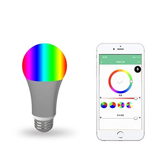GREENDOT WiFi Smart Light-Multicolor-Compatible with Alexa and Other Assistants Dimmable Multicolored Disco Light - Wake Up Lights & Sleeping Night Light–Smartphone Controlled no hub Required (1)
