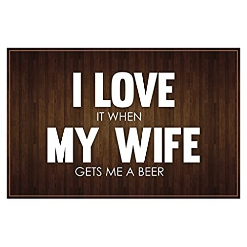 I Love My Wife Brown Poster 12x18