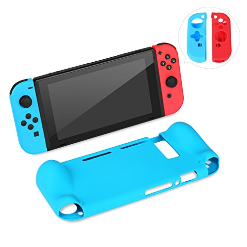 Ostrich Deluxe (Ostrich Nintendo Switch Soft Anti-slip Silicone Back Case and Joy-Cons Anti-Scratch Protective Back Cover)
