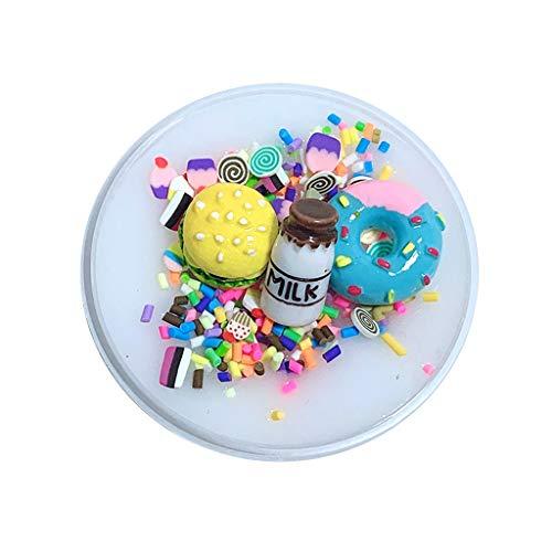 UMFun DIY Burger Char Milk slime Birthday Cake Slime Kids Relief Stress Toys -