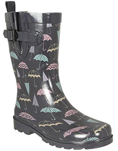 Calf Combo Rain Mid Ladies Capelli Rubber Boot Tone Grey Two New York wqPCxHYZ