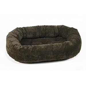 Amazon.com : Diamond Microvelvet Donut Pet Bed - Chocolate