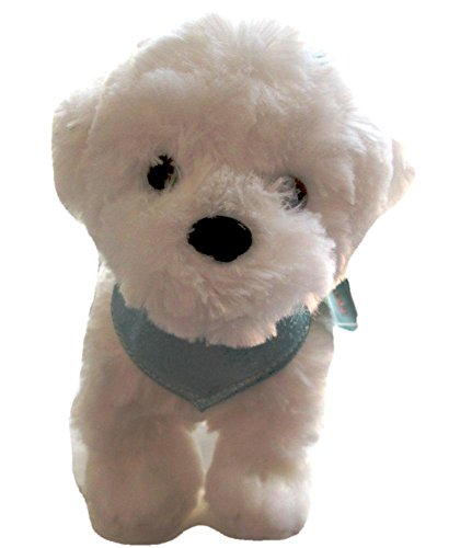 White Maltese Stuffed Animal Plush Puppy Dog That Barks - White Stuffed Animal Dog