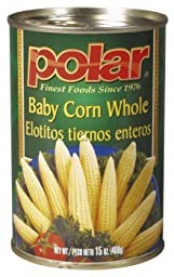 Polar Baby Corn Whole 15 Oz (Pack of 4)