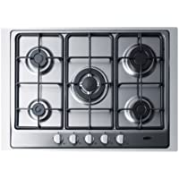 Summit GC527SSTK30 5 Sealed Burners Gas Cooktop in Stainless Steel