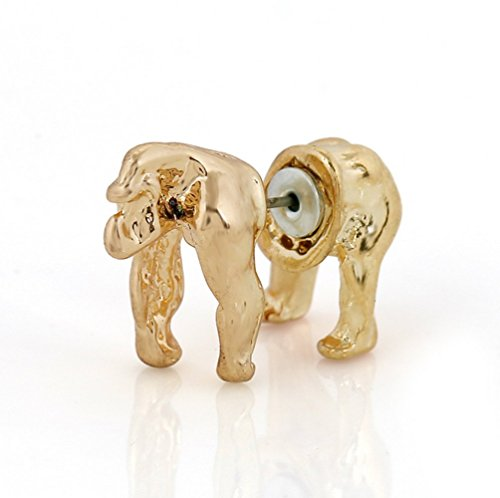 (Winter's Secret Fashion and Personality Three-dimensional Gorilla Gold Color Single Earring)