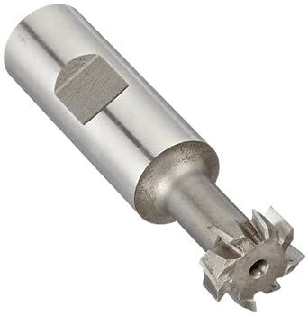 "Niagara Cutter N10820 T-Slot Shank Type Cutter, High Speed Steel, Uncoated (Bright), Weldon Shank, 10 Helix Angle, 25/32"" Cutter Diameter, 8 Tooth, 21/64"" Width"