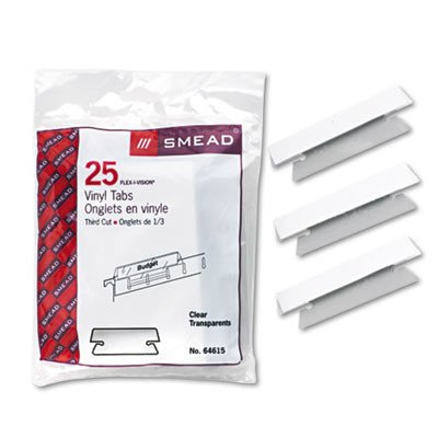 Hanging File Tab/Insert, 25/Pack [Set of 3] Color: Clear (Clear 20 Tabs)